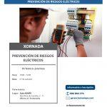 """Cartel jornada AEMPE """"Prevención de riesgos eléctricos"""""""