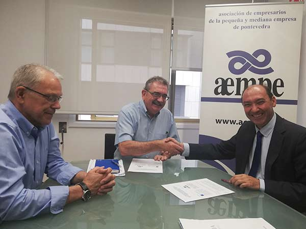convenio de AEMPE con Galicia Business School