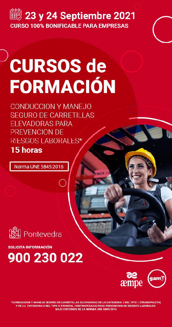 Cartel Curso de Conducción y manejo seguro de carretillas elevadoras para PRL 2